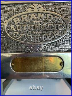 1920s BRANDT AUTOMATIC CASHIER COIN CHANGE MACHINE ORIGINAL FINISH