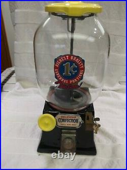 1931 Vintage Northwestern 31 Penny Coin Op Gumball Candy Vending Machine
