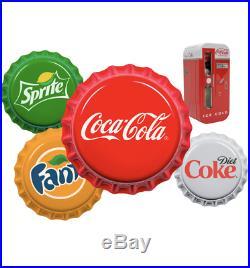 2020 Vending Machine Silver Bottle Cap Fiji Coin Set Sprite Diet Coca-Cola Fanta