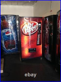 3 X Dr Pepper Soda Vending Machine withCoin & Bill Acceptor Vendo 540-10 Refurbed