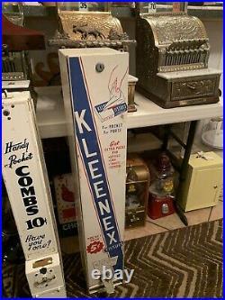 37 VINTAGE ANTIQUE KLEENEX TISSUES 5 cent COIN-OP VENDING MACHINE KEY AMAZING