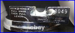 #8049 Slug Rejector FORD GUM MACHINE Fordway Coin Op Chrome Ring Penny 1 Cent