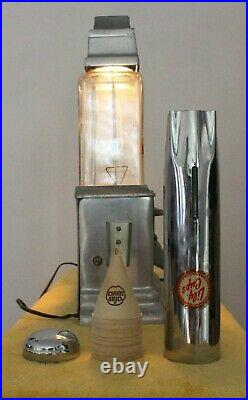 AWESOME Ajax Deluxe Hot Nut Vendor Triple Globe Machine Coin Operated