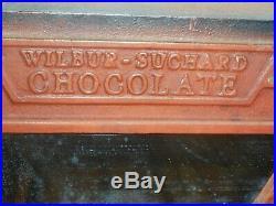 Antique Art Deco WILBUR SUCHARD 1 Cent Chocolate Coin Operated Dispenser Machine