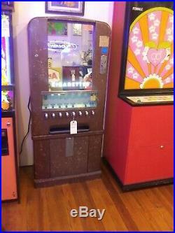 Antique Coin-op Cigarette Vending Machine Original Condition Not Restored