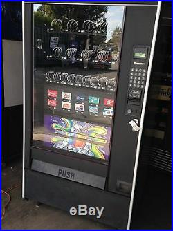 Automatic Products Combo Vending Machine Soda & Snack Accepts Coins & Bills