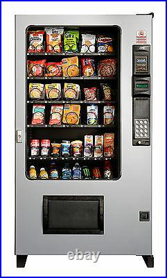Candy Chip & Snack Vending Machine Gray/Black, AMS 45 Select withCoin & Bill Mech