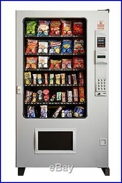 Candy Chip & Snack Vending Machine Gray/Gray, AMS 45 Select withCoin & Bill Mech