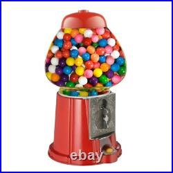 Candy Gumball Machine Bank With metal base Stand Vintage Coin Sweets Dispenser