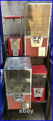Coin operated candy gumball vending machine