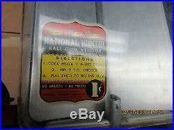 DUCK NATIONAL HUNTER GUM BALL VENDOR 1 CENT 1940s SHOOTING COIN OP MACHINE WORKS