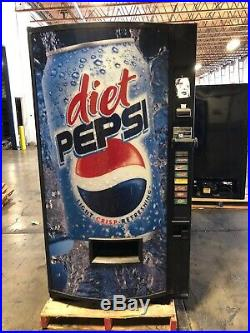 Diet Pepsi Vendo 407-8 Soda Vending Machine WithCoin & Bill Accept Made In USA