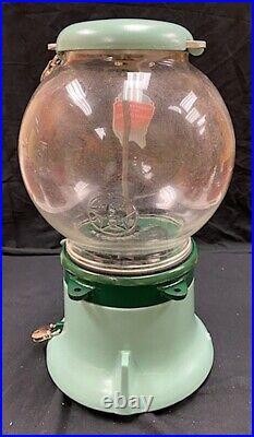 Early 1920s Columbus Model M Coin Op Peanut Gum Ball Vending Machine Restored