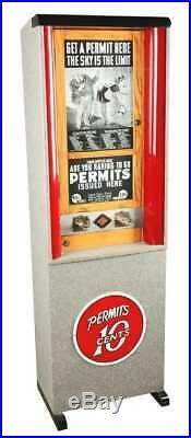 Exhibit Supply Permit Card Vending Machine 10 Cent Coin-OP Restored Arcade ESCO
