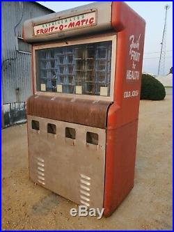 FRUIT O MATIC Vintage Vending Coin Operated Machine