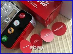 Fiji 2020 4 x 1$ COCA COLA Bottle Cap Shape Vending Machine Silver Coins Set