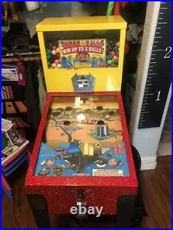 Gumball Bouncy Ball Pin Ball Vending Machine Play More Win More Arcade Coin Op
