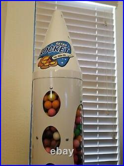 Gumball Machine Rocket to the Moon Vending Coin Op Vintage look Ship 25c Retro