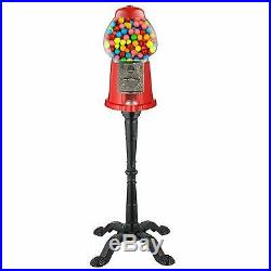 Gumball Machine with Stand Vintage Bubble Gum Globe Glass Candy Bank Nuts Coins