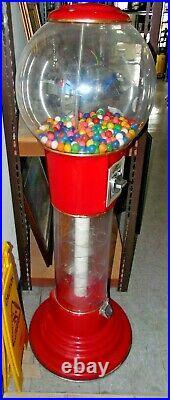Gumball Spiral Vending Machine Beaver Coin Mech Works 57 Tall Large