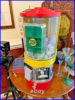 Gumball Victor Vending Machine VENDORAMA HALF-CABINET 25 Cent Coin Mechanism
