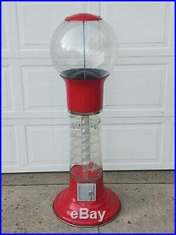 Gumball Wizard Spiral Gumball Machine, Almost 5' Tall, 25 Cents Coin Mechanism