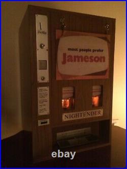Irish Whiskey John Jameson Coin Operated Vending Machine Dispenser Ireland 70's