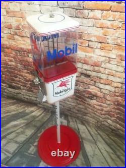 Mobil gas gumball machine candy peanuts vintage coin op bar Americana man cave