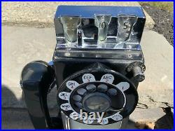 ORIGINAL 1960s ANTIQUE COIN OPERATED WALL PAY PHONE vintage telephone NICE