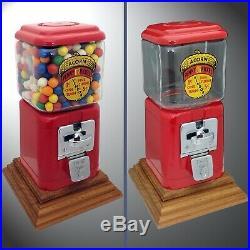 Oak Acorn Gumball Vending Machine Penny/Nickle Combination Coin Mechanism