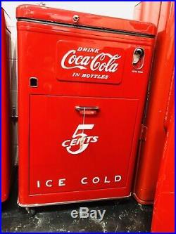 Original 1950s Antique COKE MACHINE Coca Cola RESTORED Coin Op Vending VMC A23 E