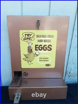 RARE Hard Boiled Egg Vending Machine Coin OP 10 Cents Dime Oddity Antique