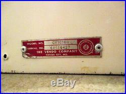 Rare 1950's Planters Peanut Coin Op Vendo Company Mr Peanut Dispenser! 5 Cent