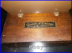 Rare Antique Coin-op Quick Change Maker McGill Metal Products coin dispenser