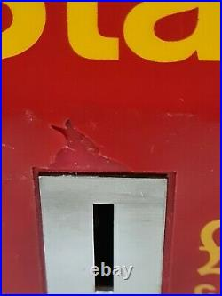 Rare Vintage Royal Mail £1 Coin Postage Stamps Dispensing Vending Machine Red
