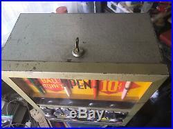 SELECT-A-PEN VENDING MACHINE 10 CENT COIN OP With KEY Decent CONDITION VINTAGE