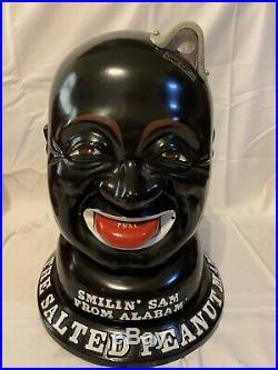 SMILIN SAM Peanut Vending Machine Coin Operated BLACK & RED