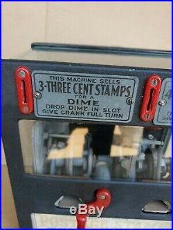 Schermack Postage Stamp Vending Machine Coin Operated Double Sided 5 10 Cent