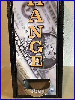 Seaga $1/$5 Bill Changer Coin Maker Vending Machine $120/$180 Cap. JCM DBV-20