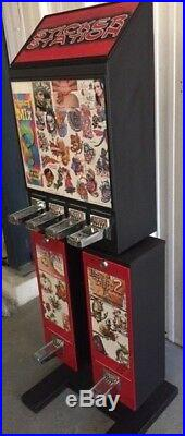 Sticker / Tattoo Coin Operated Vending Machine Greenwald Vertical 5 Coin Mechs