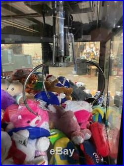TOY SHOPPE CRANE STUFFED TOY VENDING MACHINE withCOIN/BILL ACCEPTOR AND TOYS