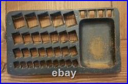 Unmarked Antique Staats Bank Coin Sorting Changer Tray Cast Iron As Found