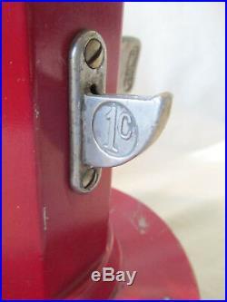 VAN LITE LIGHTER FLUID DISPENSER Coin Op MACHINE 1 Cent 18 Visible Gas Pump Old
