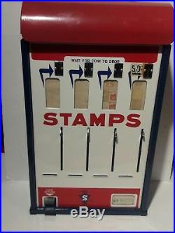 VTG Shipman MFG Co. Postage Stamp Vending Machine Coin Op. Original Paint