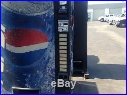 Vendo 570-10 Soda Vending Machine WithCoin & Bill Accept Not Pretty But Runs Great