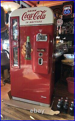 Vendo 81 Coca-Cola Vending Machine WORKING Coin Op 1950s Rare Coke REAL THING