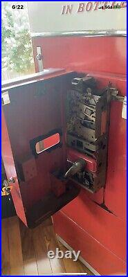 Vendo Coke Machine Red White Circa 1956 Era XH110D Coin Machine. Works Great Cold