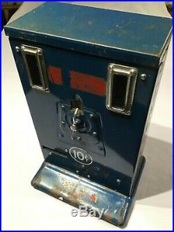 Vintage 10c PENCIL VENDING MACHINE by HARMON Wichita KANSAS US Table Top Coin Op