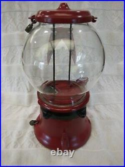 Vintage 1928 Penny Coin Op Columbus Model M Bulk Vending Machine Gumball Candy