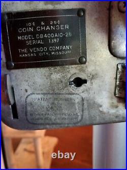 Vintage 1950's Coca Cola Coin ChangerSoda Pop Vending Machine Cast Iron Base